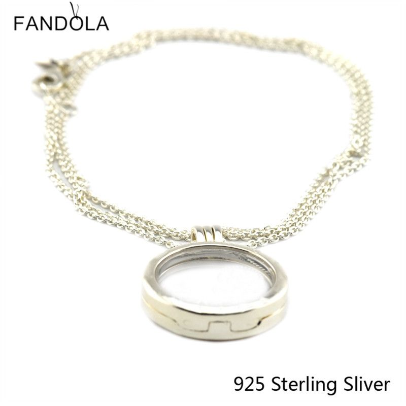 Pendants Box Compatible With European Style 100% 925 Sterling Silver Jewelry Medium Accessories Collocation Concept DIY Charms