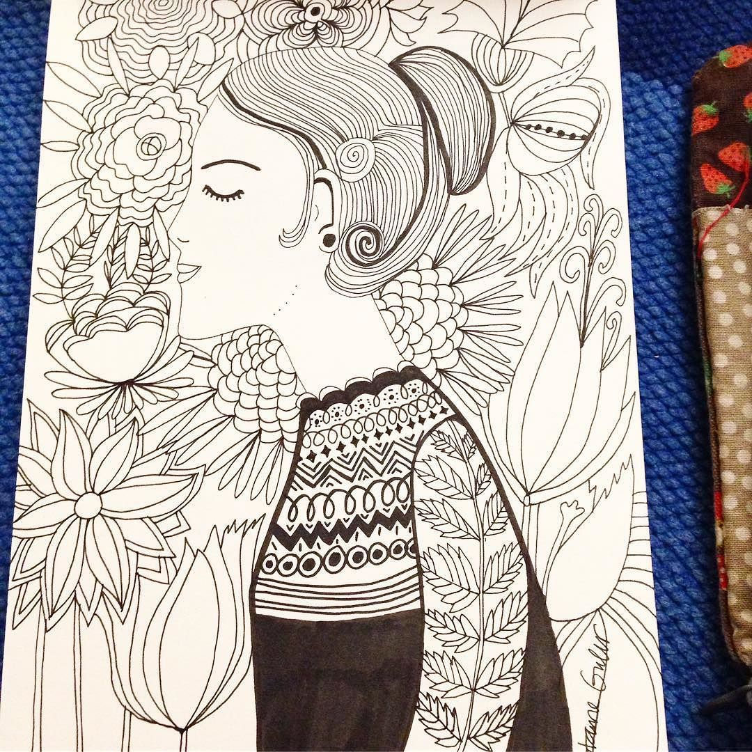 Woman and flowers #illustration #illustrationoftheday  #drawing  #typography  #draweveryday #instaartist  #womanillustration #illustratorsofinstagram #art_we_inspire #quiettime #relaxationtime #peaceful #relaxing #mindfulnessmatters #inspiration #makersmovement #upandautumn #simplepleasure #slowlivingforlife #cylcollective  #allthingsbotanical