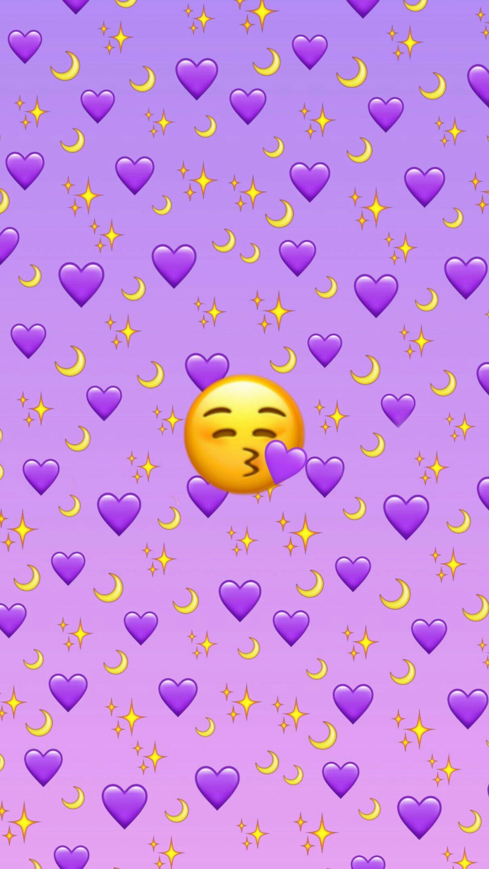 Purple Emoji Background Emoji Wallpaper Iphone Cute Emoji Wallpaper Emoji Backgrounds