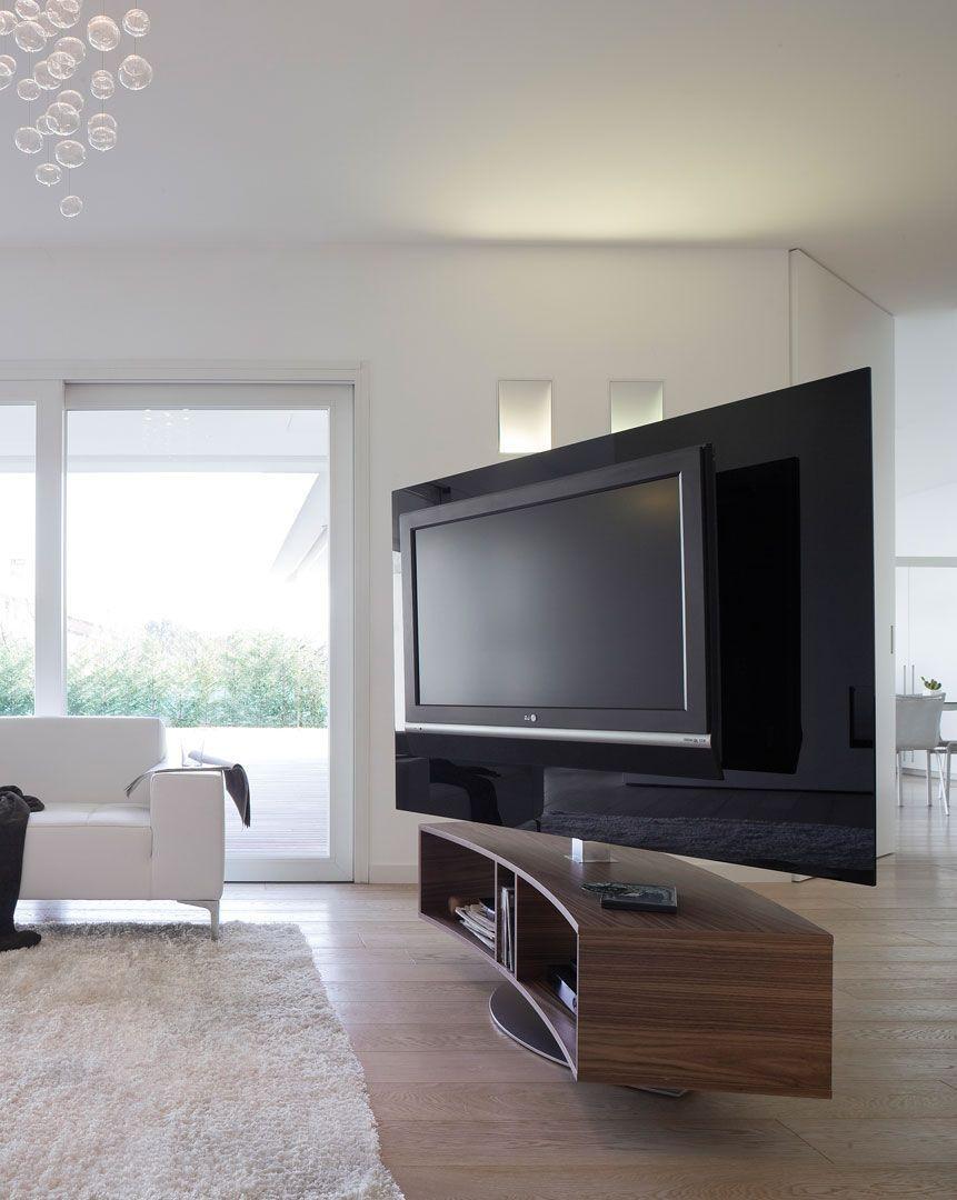 Contemporary Tv Cabinet Swivel Wood Glass Odeon Antonelloitalia Tv Room Tv Stand Room Divider Tv Stand Modern Design