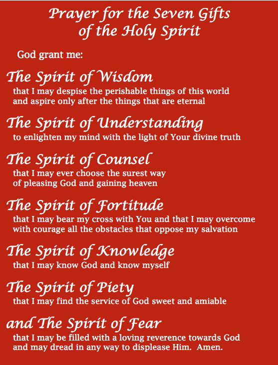 Gifts of the holy spirit middleschool religion pinterest gifts of the holy spirit negle Images