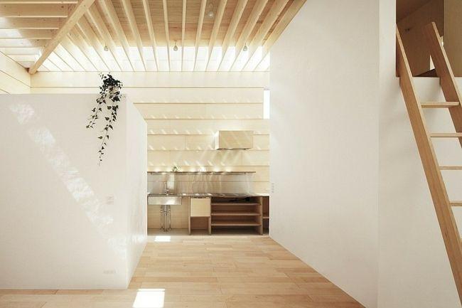 Holz architektur innenraum  moderne minimalistische Innenarchitektur Decken Gestaltung Holz ...