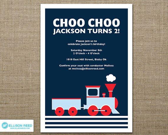 Train Invitation Train Printable Train Birthday Choo Choo – Choo Choo Train Birthday Invitations