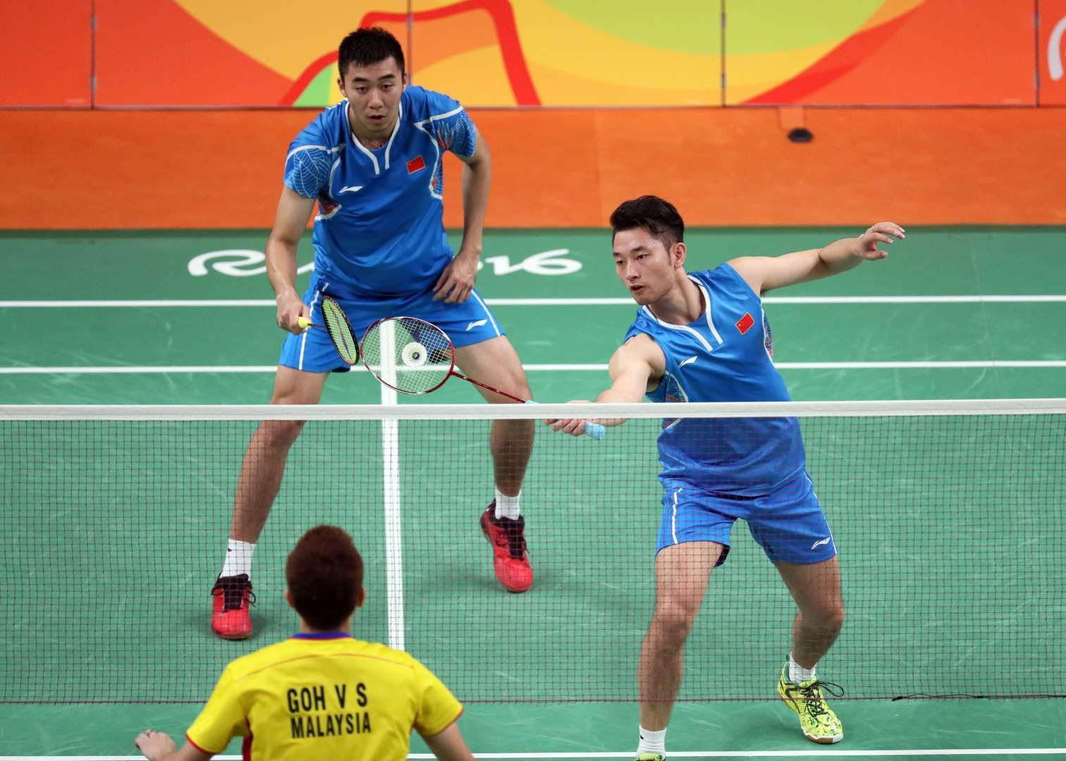 Biao Chai And Wei Hong Of China Compete Against V Shem Goh And Wee Kiong Tan Of Malaysia During The Men S Badminton Dou Rio Olympics Olympics Badminton Doubles
