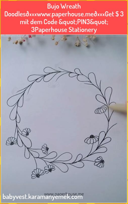 "Photo of Bujo Wreath Doodles👉www.paperhouse.me💝Get $ 3 mit dem Code ""PIN3&quot…"