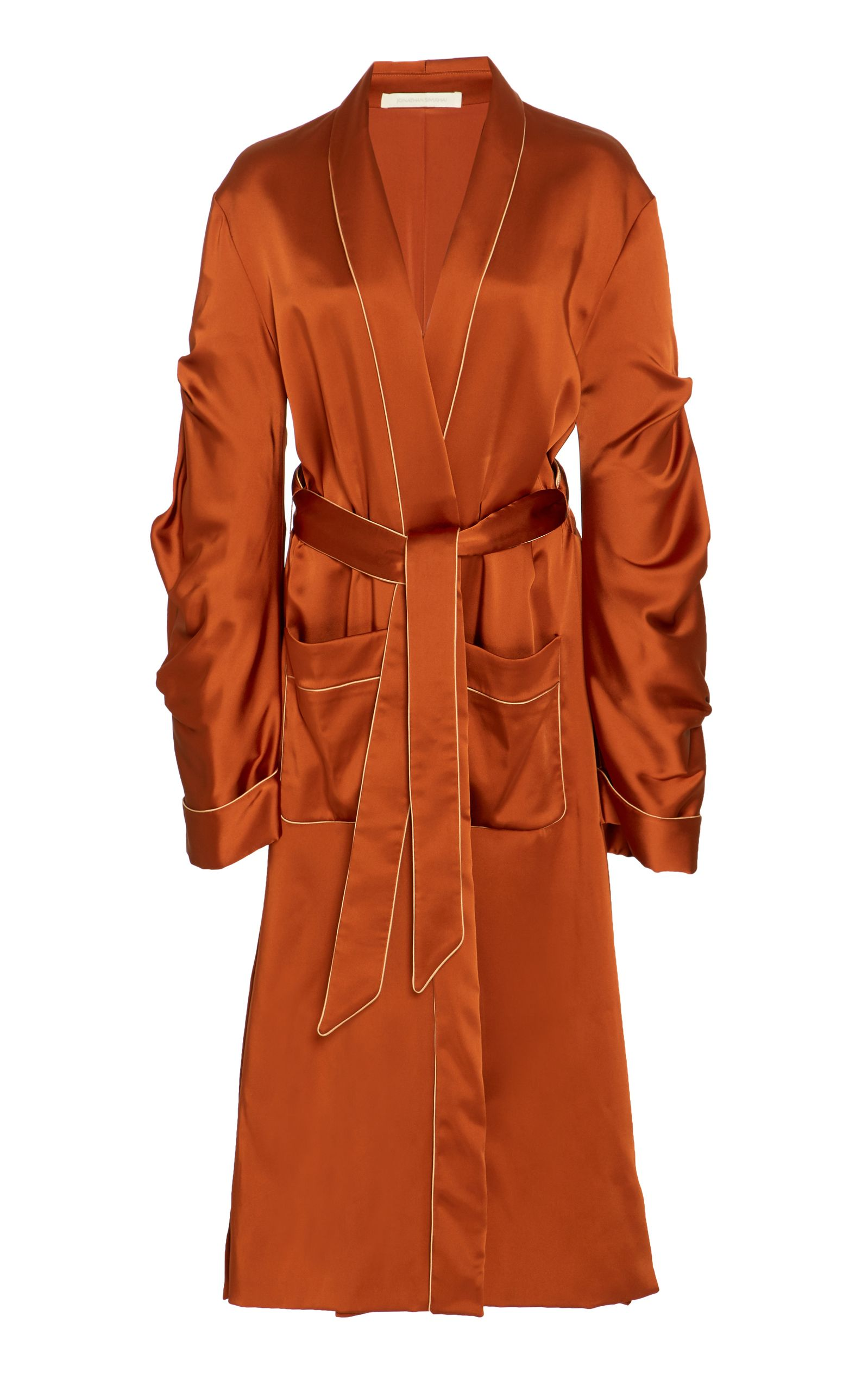 Trench Simkhai Jonathan jonathansimkhai Satin Coat Fluid cloth wPnq8x6