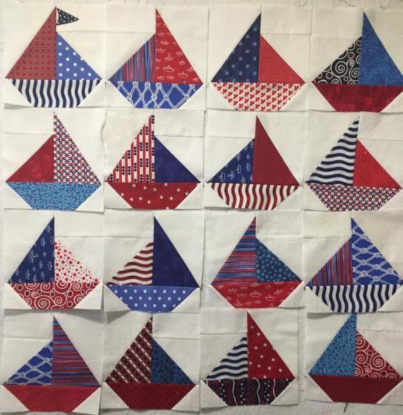 Sailboat block in progress | quilt voorbeelden | Pinterest : sailing quilt - Adamdwight.com