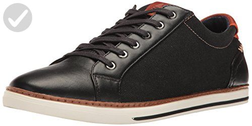 Aldo Men's Giling Fashion Sneaker, Black Leather, 9.5 D US - Mens world (