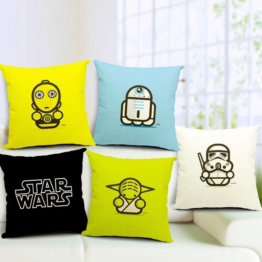 Star Wars Movie Housse de Coussin Pillow Case Sofa Maison Décor ...
