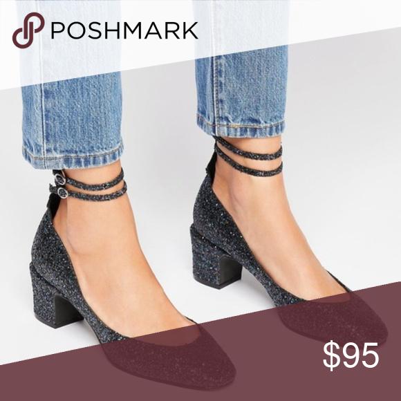 Spotted while shopping on Poshmark: Free People Lana glitter block heel US 7-7.5/EU 38! People