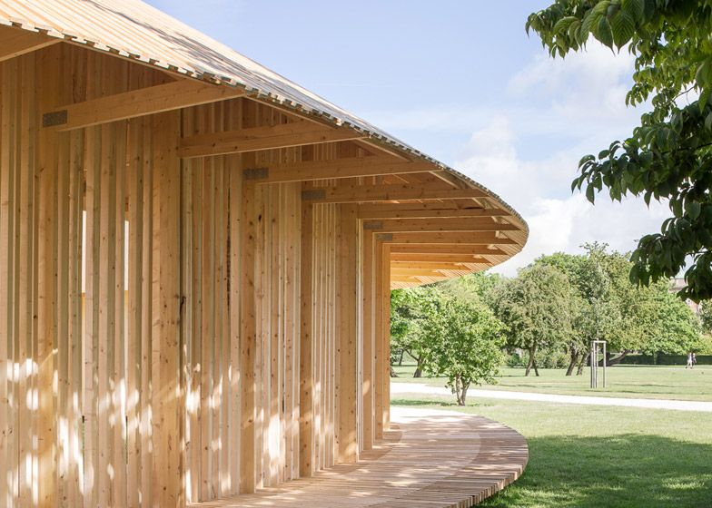 Christiansen and Andersen's wooden pavilion in Copenhagen