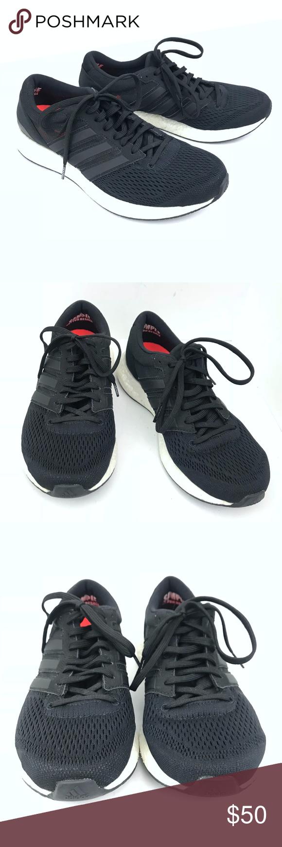 Adidas Adizero Boston Boost 6 Black Womens Sz 7 Adidas