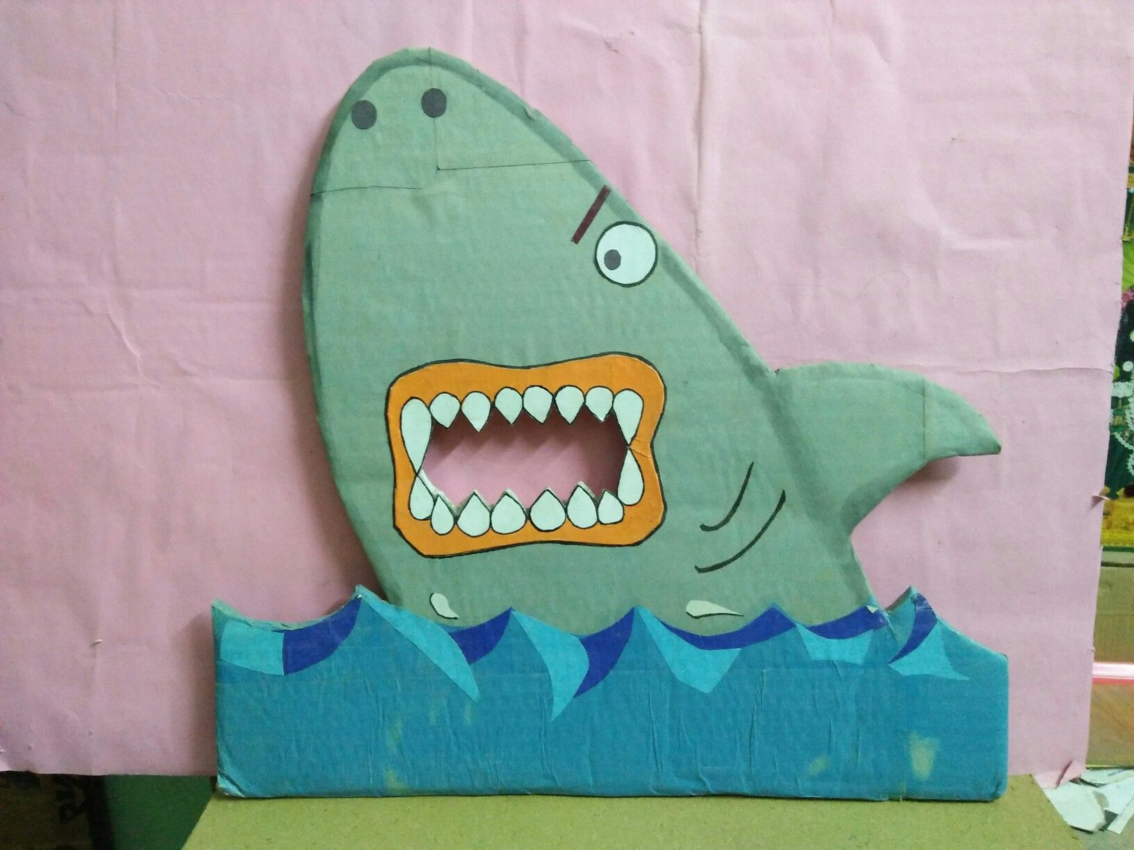Fish Made With Cardboard Colour Sheets Etc