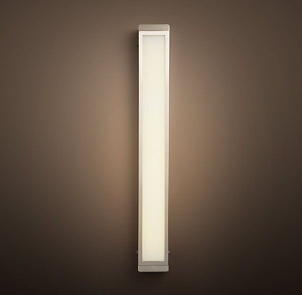 RH\'s Pierce Sconce:Our fluorescent-equipped fixture casts a soft ...