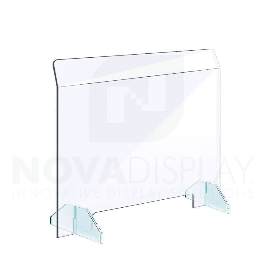 Clear Acrylic Sneeze Guard With Removable Acrylic Base Freestanding In 2020 Working Area Sneeze Guard Clear Acrylic