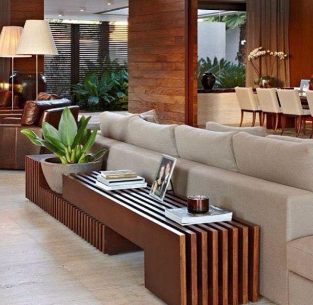 Resultado de imagem para aparador atrás do sofá banco SALAS Pinterest Aparador, Sofá e Salas -> Decoração Aparador Atras Do Sofa