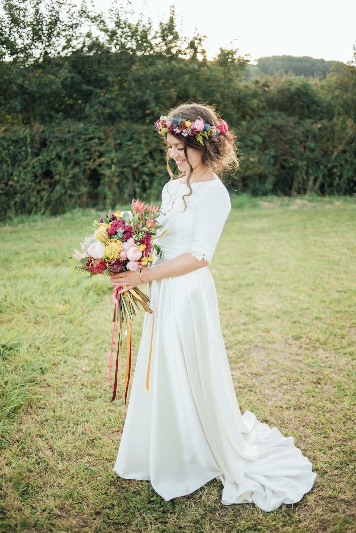 A Sun and Flower-filled Country Wedding in Devon