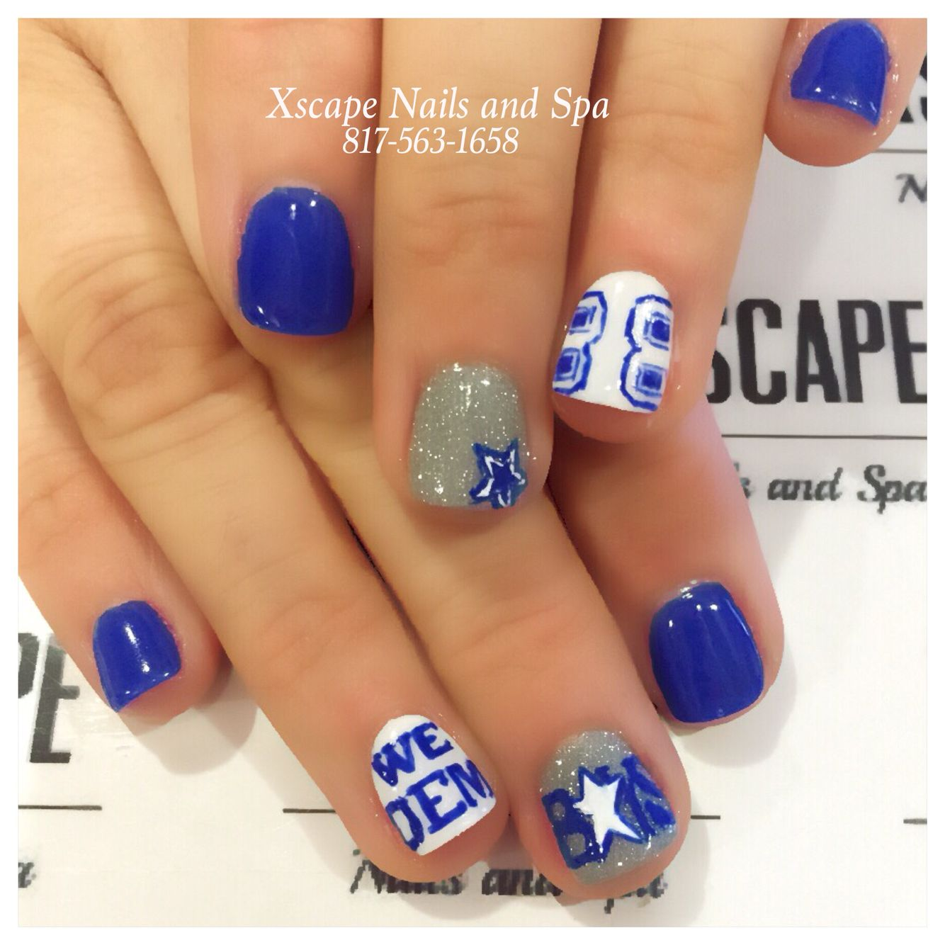 Dallas Cowboys nails | Cute Nails Designs | Pinterest | Dallas ...