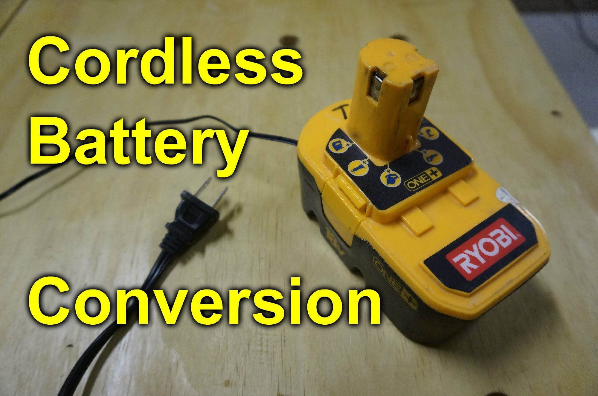 Cordless Tool Battery Conversion To Run Off Of A Ac Adapter Shop