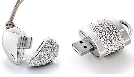 Shiny and sparkly usb pendants
