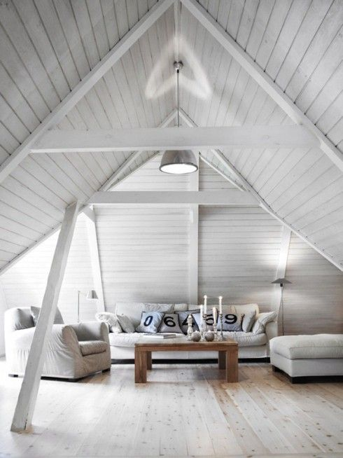 Combles Amenages 10 Idees Inspirantes Blog Deco Clematc Home House Design Attic Design