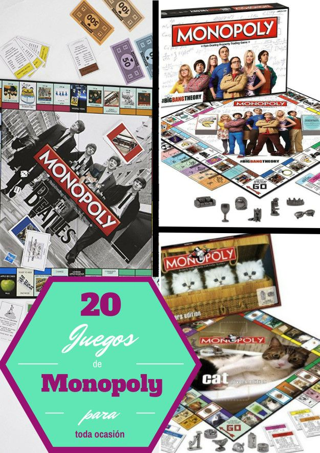 20 Juegos de Monopoly que tal vez no sabías que existían