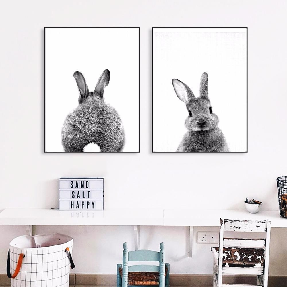 Gorgeous Bunny Canvas Art Poster (NO Frame)