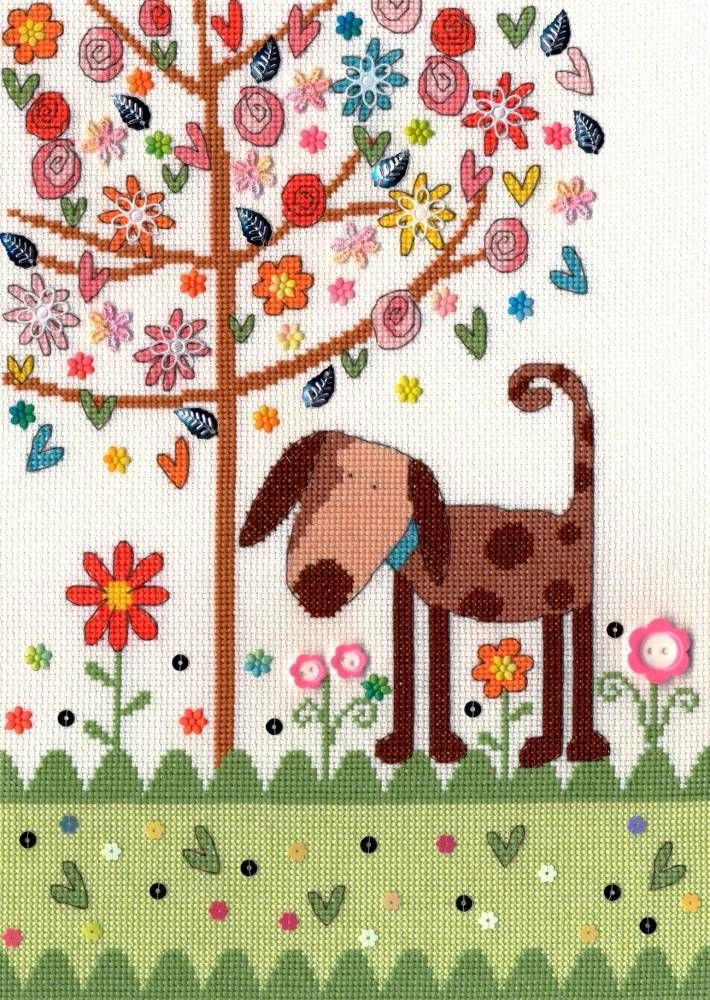 Daisy Patch Dog - Bothy Threads | Pinterest | Kreuzstich-Katzen ...