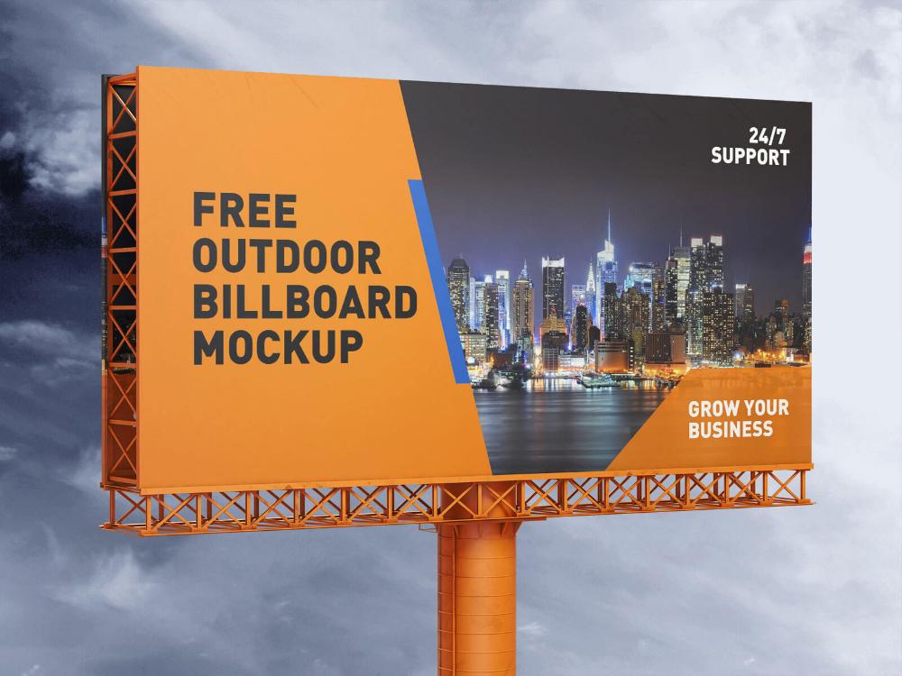 Free Outdoor Advertising Billboard Hoarding Mockup Psd Set Good Mockups Outdoor Advertising Billboard Outdoor Advertising Outdoor Advertising Design