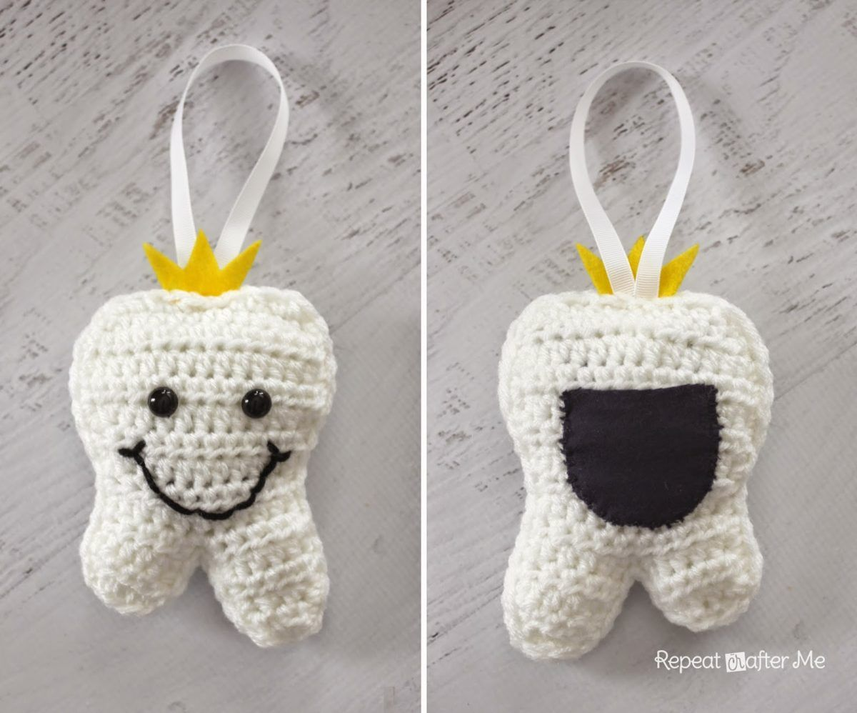 Patrón amigurumi almohada de diente crochet | Crochet Amigurumi ...