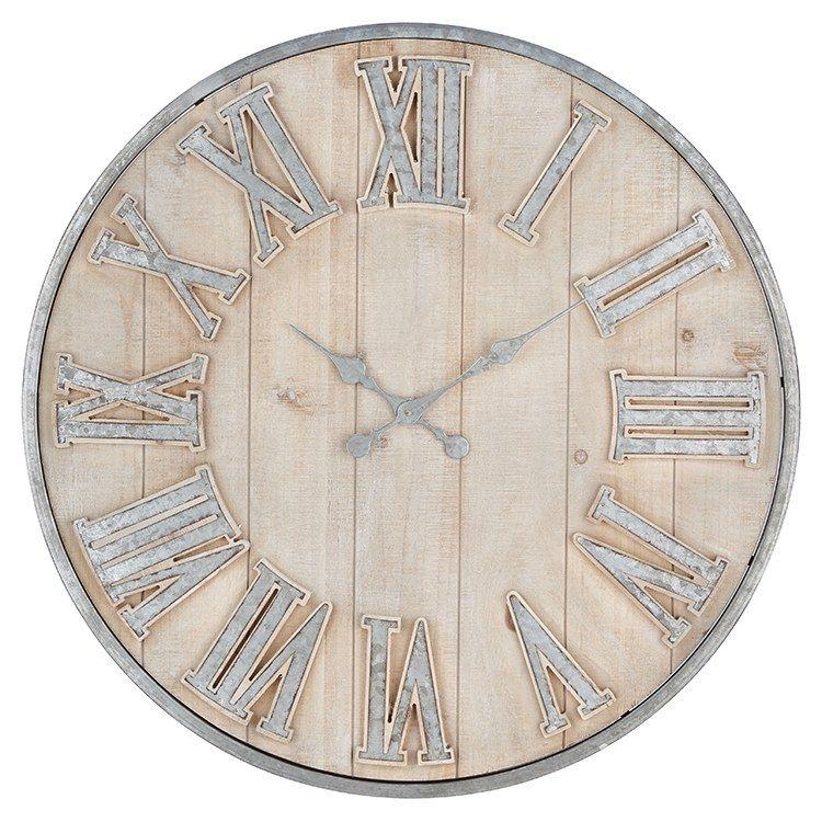 Adelaide Galvanized Wall Clock Clock Wall Vintage Metal