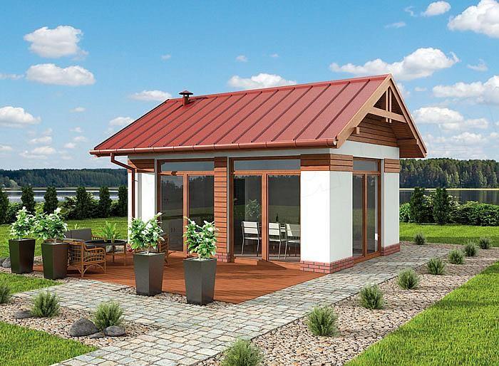 Projekt Kuchni Kl6 Kuchnia Letnia Bud Gospodarczy Small House Tiny House Design Tin House