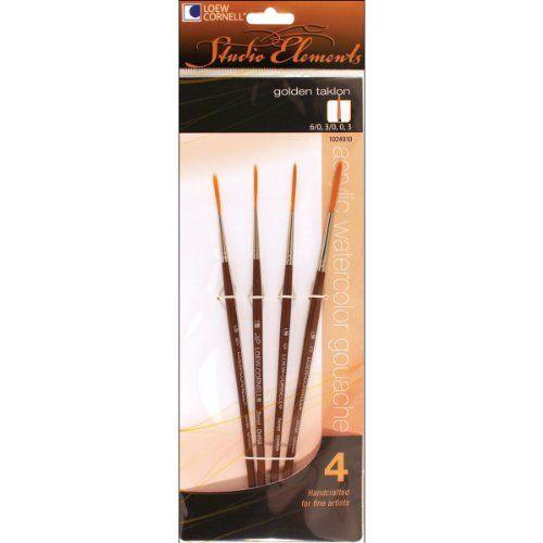 Loew-Cornell 1024910 Studio Elements Short Handle Golden ...