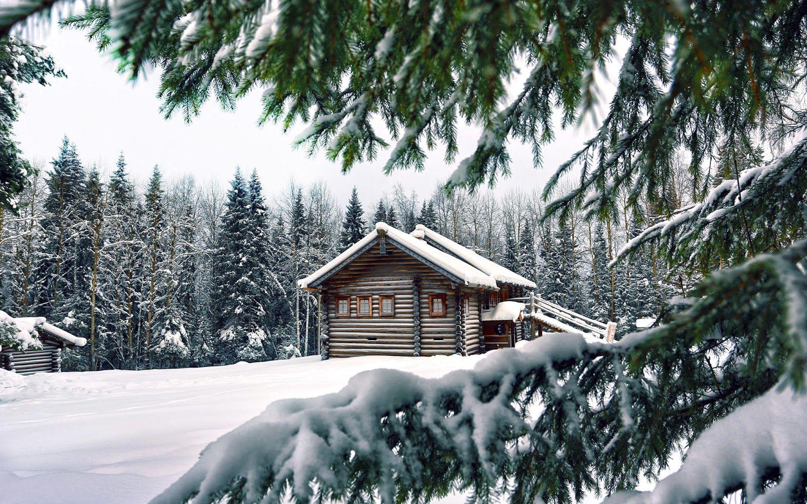 Invierno paisajes pinterest invierno fotograf a de invierno y caba as r sticas - Cabana invierno ...
