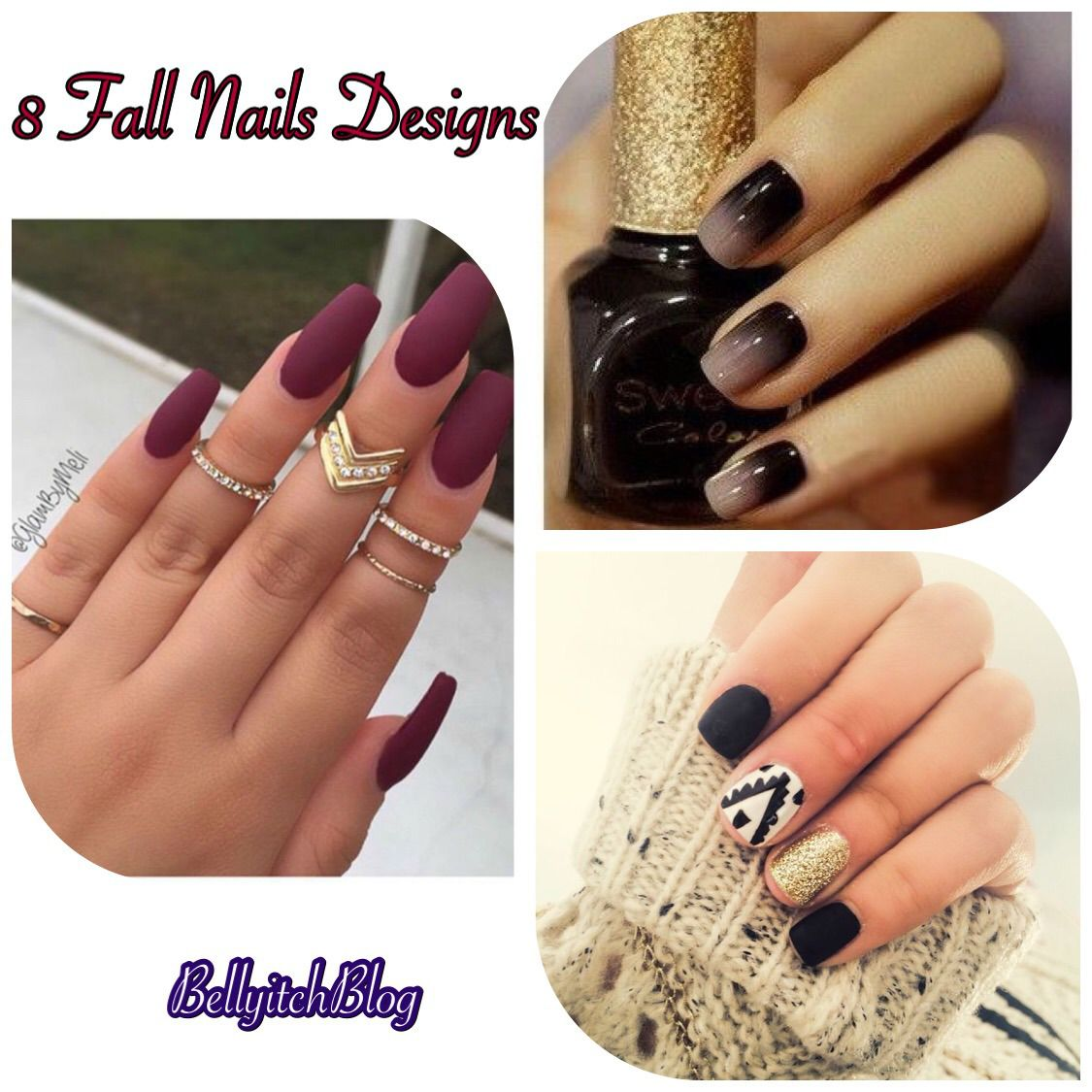 It's time to mix up your usual nail color choice for the fall. We've looked  around and have curated 8 fall color and designs to inspire you as you head  to ... - 8 Fall Nail Colors And Designs Fall Nail Colors, Choices And Autumn
