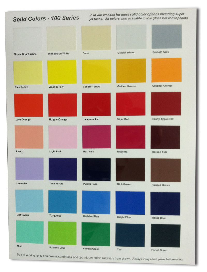 Urekem solid color charts now available httpwww urekem is proud to announce the launch of their solid color chip chart representing the hottest selection of solid colors for custom painting nvjuhfo Images