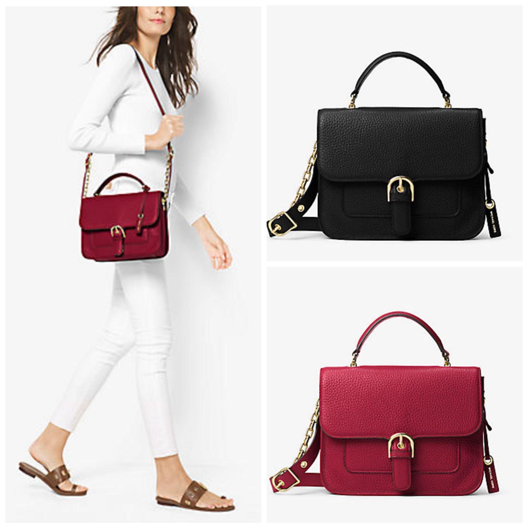 2fde027dd90584 MK Cooper Large Leather Top Handle Satchel Bag   Fashion   Bags ...