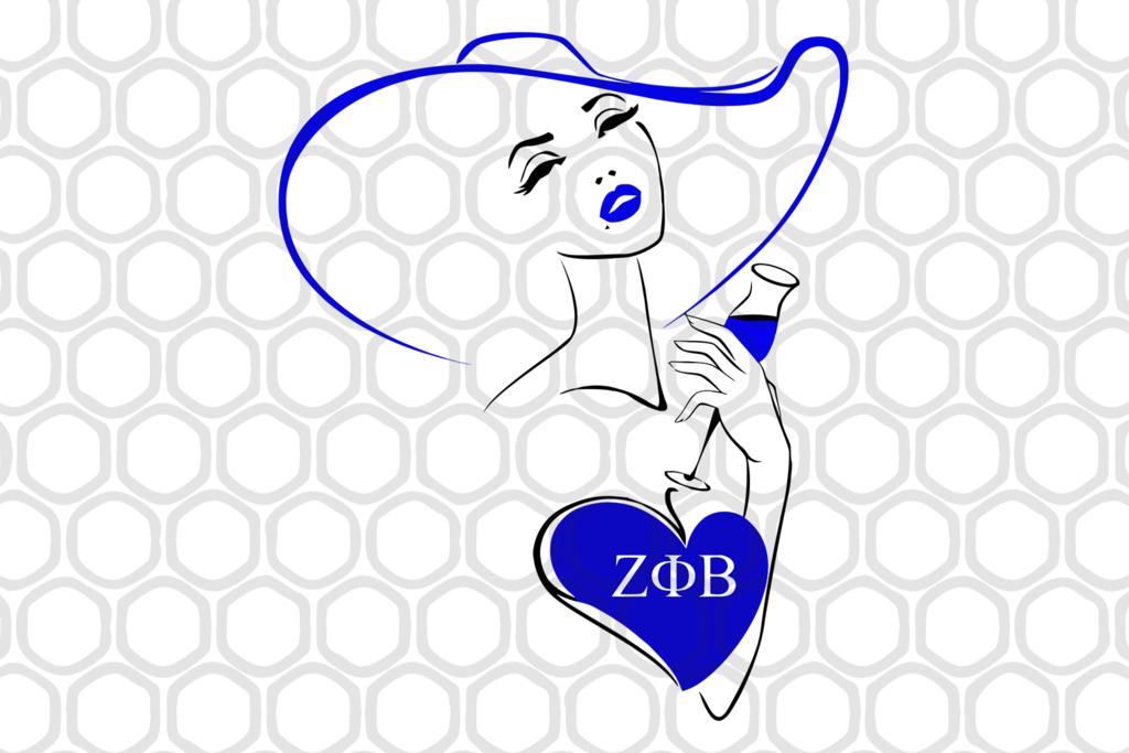 Zeta Phi Beta Girl Svg Files For Silhouette Files For Cricut Svg Dxf Eps Png Instant Download Zeta Phi Beta Zeta Sorority Canvas