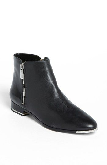 Front Evans Black Leather Shoes | Woven Durham