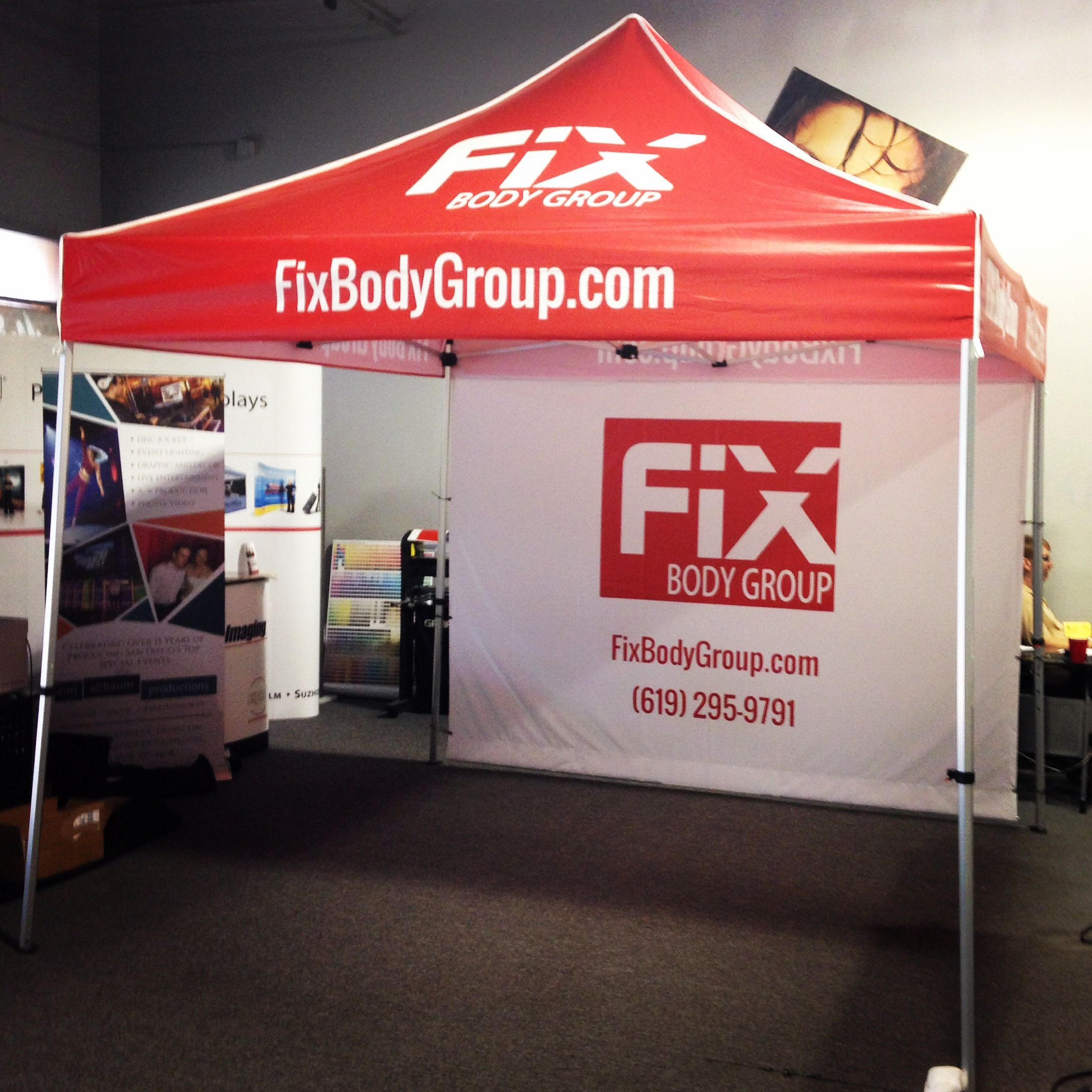 Check out this custom and we created for our friends at Fix Body Group. & Custom #canopy and #backwall. Done by one of our Speedpros. www ...