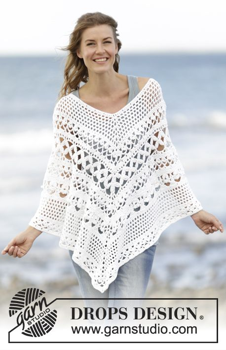 Poncho lace Drops | croche | Pinterest | Ponchos, Tejido y Ganchillo