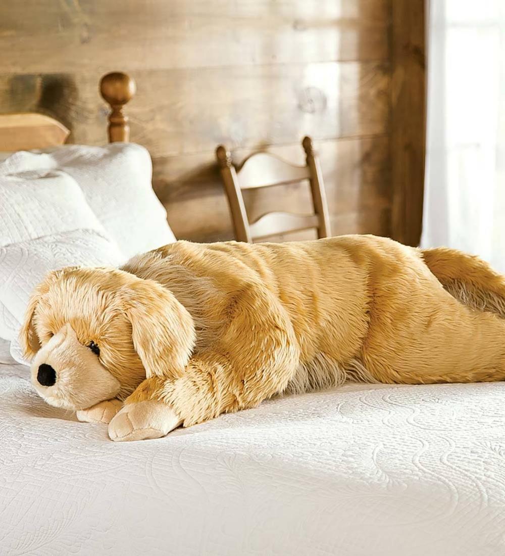 Super Soft Golden Retriever Body Pillow With Realistic Features Golden Retriever In 2020 Body Pillow Golden Retriever Dogs Golden Retriever