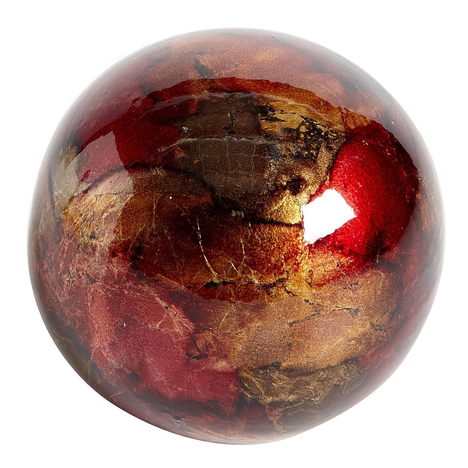 Foil Sphere - Red & Gold
