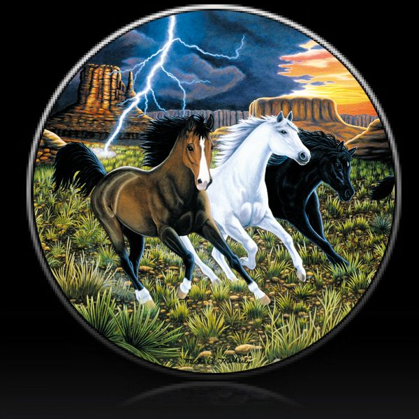 Horse Thunder Run Spare Tire Cover Custom Tire Covers Spare