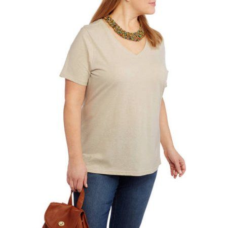 095cf79a Faded Glory Women's Plus-Size Short Sleeve V-Neck Tee | Products ...