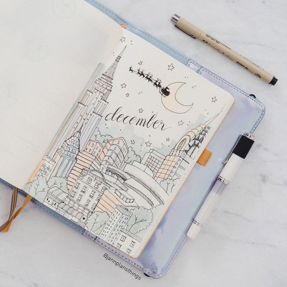Beautiful Bullet Journal Monthly Cover Pages