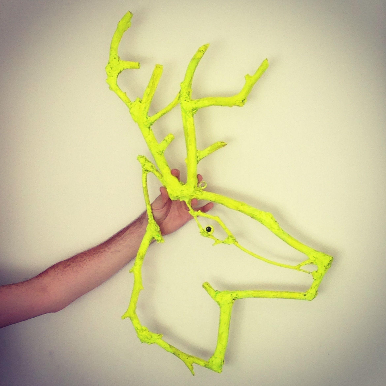 Neon elk head wall art | Antlers | Pinterest | Elk and Walls