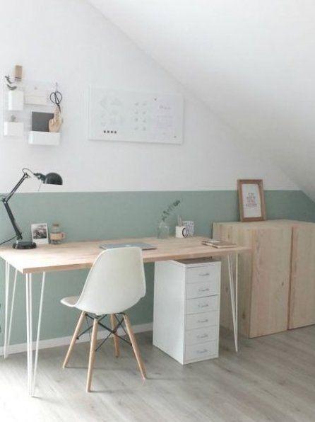 Sch nes helles Home Office mit Dachschr ge diydekorationenbadezimmer dekorationenbadezimmer  ...