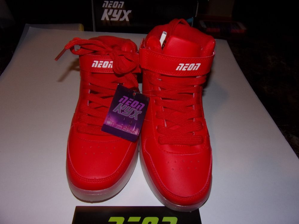 Neon Kyx Girls Size 4 Red High Top Tennis Shoes Brand New Neonkyx Hightoptennisshoes Light Up Shoes High Top Tennis Shoes Shoes