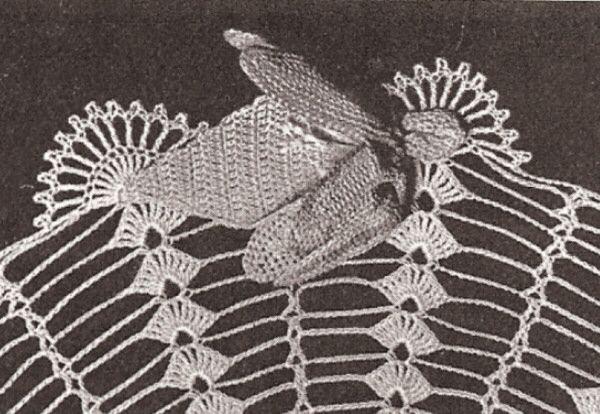 Vintage Doily Pattern | Vintage Crochet Orchid Flower Doily Motif Pattern